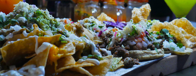 Nachos, Carne Asada Fries, Chicharones